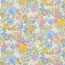 Floral Waltz Yellow/Blue - Liberty Tana Lawn