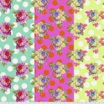 Painted Roses - Curiouser & Curiouser - Tula Pink for Free Spirit Fabrics