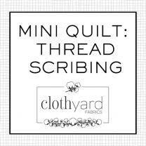 Mini Quilt - Thread Scribing