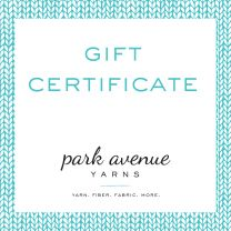 Park Avenue Yarns Gift Certificate