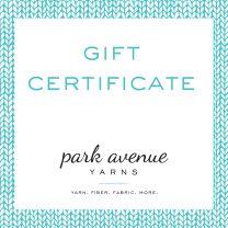 Park Avenue Yarns Gift Certificate