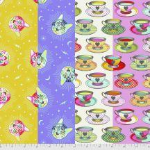 Tea Time - Cheshire - Curiouser & Curiouser - Tula Pink for Free Spirit Fabrics