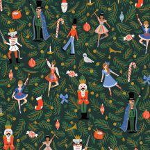 Nutcracker Evergreen Canvas-Holiday Classics-Rifle Paper Company