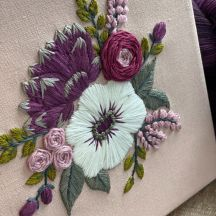 Embroidery II: Floral on Linen
