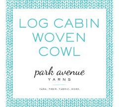 Log Cabin Woven Cowl